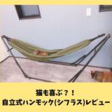 【シフラスレビュー】猫も喜ぶ?!オシャレな自立式ハンモック