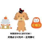 愛犬のかぶりもの(年賀状のためのコスプレアイテム)